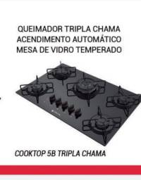 Fogão Cooktop 5 bcs tripla chama