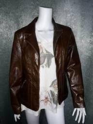 Jaqueta de couro original marrom
