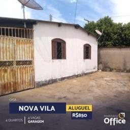 Casa com 4 quartos - bairro nova vila jaiara em anápolis