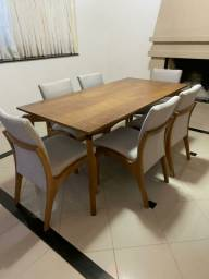 Imperdivel-Mesa madeira + 6 cadeiras modelo Sabrina