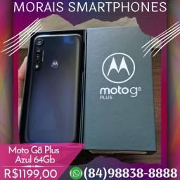 Motorola Moto G8 Plus 64Gb Azul (SEMI-NOVO IMPECÁVEL COMPLETO)