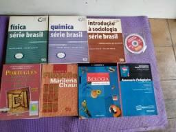 Kit Livros Enem e USP - Física - Química - Sociologia - Filosofia - Biologia e Português