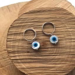 Brinco olho grego prata 925