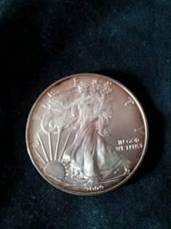 Moeda Amricana 10z. Fine Silver One Dolar