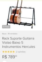 Rack Hércules Suporte/Pedestal para 5 instrumentos Guitarra/Violão/Baixo