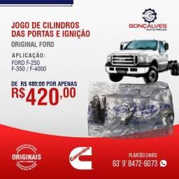 JOGO DE CILINDROS DAS PORTAS E IGNIÇÃO FORD F-250/ F-350/F-4000