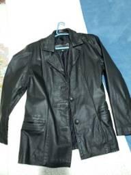 Blazer feminino de couro sintético