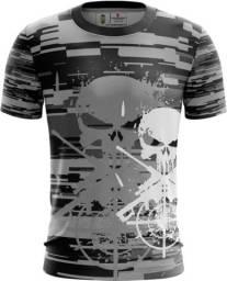 Camiseta Camisa Caveira Policia -cai (uso Liberado)