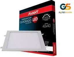 Plafon Led Quadrado Embutir 40X40 Painel 30W 6500K Avant