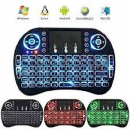 Mini Teclado Wireless Mini Keyboard Usb Sem fio com Touch Pad