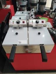 Fritadeira elétrica com 2 cestos jm Equipamentos Paulo Malmegrim