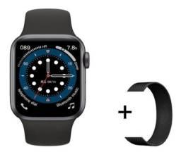 Smartwatch Iwo 13 (w56) Preto + Pulseira Extra Milanese Preta