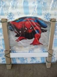 Cama de menino infantil de solteiro tamanho grande Homem Aranha