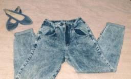 Calça Jeans tipo Mom