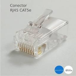 300 unidades do conector rj45 cat5e para cabo de rede