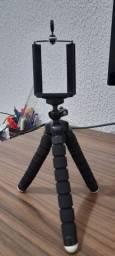 Suporte tripé para celular regulável 20cm usado (Uberaba/MG)
