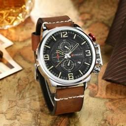Título do anúncio: Relógio CURREN A PROVA D'ÁGUA ORIGINAL NOVO!!