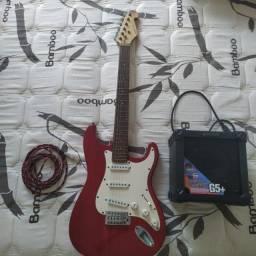 Quit Guitarra Stratocaster Giannini Sonic X Series + Amplificador Giannini G5+