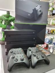 Xbox one x  1tb em perfeito estado com garantia