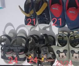 Tênis e sandálias bebê