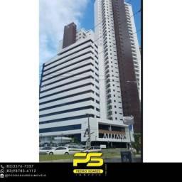 Título do anúncio: Sala para alugar, 37 m² por R$ 2.600/mês - Altiplano Cabo Branco - João Pessoa/PB