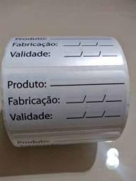 Etiquetas de validade BOPP impermeável