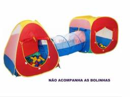 Barraca Infantil Toca 3 Em 1 Com Tunel Facíl Montagem Rapido