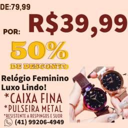 Relogio Feminino Luxo promoção aceito cartão
