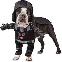 Fantasia Roupa de Cachorro Darth Vader Petco Star Wars Com Efeito Sonoro Tamanho M