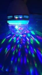Lâmpada colorida globo giratória//entrega grátis