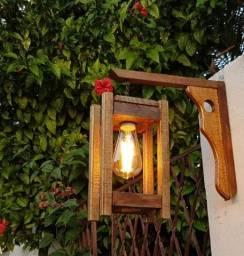 Luminária Rústica com Lâmpada led Pera