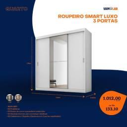 Título do anúncio: Roupeiro Smart Luxo 3 Portas (Entrega Rápida/Frete Grátis)