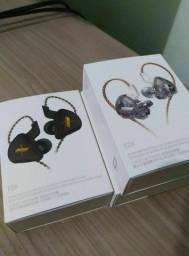 Título do anúncio:  Fone Kz EDX com microfone, cor preto - LACRADO Frete Grátis