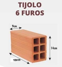 Tijolo 6 furos 9x14x19 Tradicional