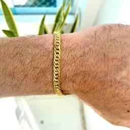 Título do anúncio: Pulseira Gourmet 100% moeda antiga Banhado a ouro 18k