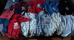 Lote roupa macacao menino p/m/g