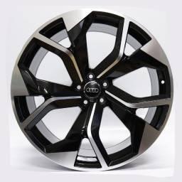 Título do anúncio: Jogo Roda Raw (Mc/A22) Audi Rs Q8 Aro 22x10 Preta Diamantada 5x112 Et 20