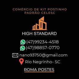 Kit postinho padrão Celesc Roma postes