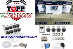 KIT 4 Câmeras Citrox a partir de R$1400,00 instalado!