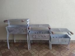 Churrasqueira de alumínio batido de vários tamanhos e valores Líquida