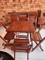 6 jogos de mesa de madeira