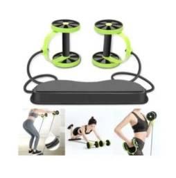 Aparelho para Treino Rodas / Elásticos  40 Exercícios / Musculação Malhar Fitness