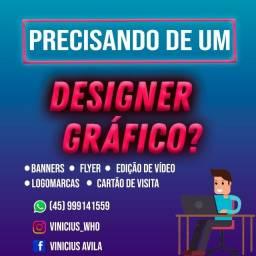 Título do anúncio: Precisando de um Designer gráfico?