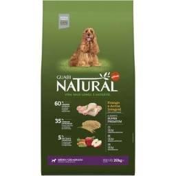 20kg Ração Guabi Natural Cães Adultos Raças Médias  - Sabor Frango e Arroz Integral