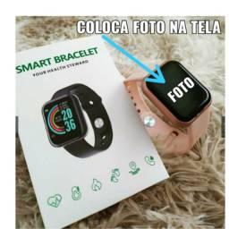 Promoção  Smartwatch Smart D201 Pulseira Branca De Silicone D20