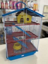 Gaiola pra Hamster 3 Andares 2 rodinha e casinha