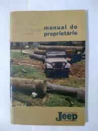 Manual Jeep Universal Willys 1965 Overland Original