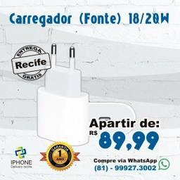 Título do anúncio: Carregador (Fonte) tipo C 20w IPhones 11 / 12 / 12 pro / 12 Pro Max (Entrega Grátis)