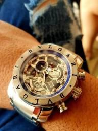 12057ff781b Relógio Bvlgari yakuza Skeleton luxo promoção