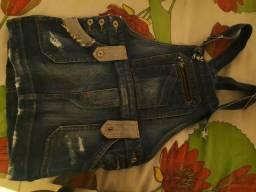 Jardineira jeans comprar usado  Betim